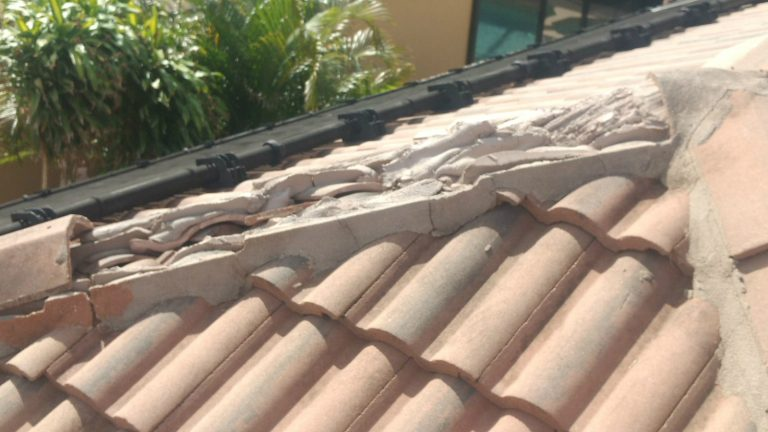 """insurance company estimate for like kind & quality"""" roofing tile replacement and repair was too low"""