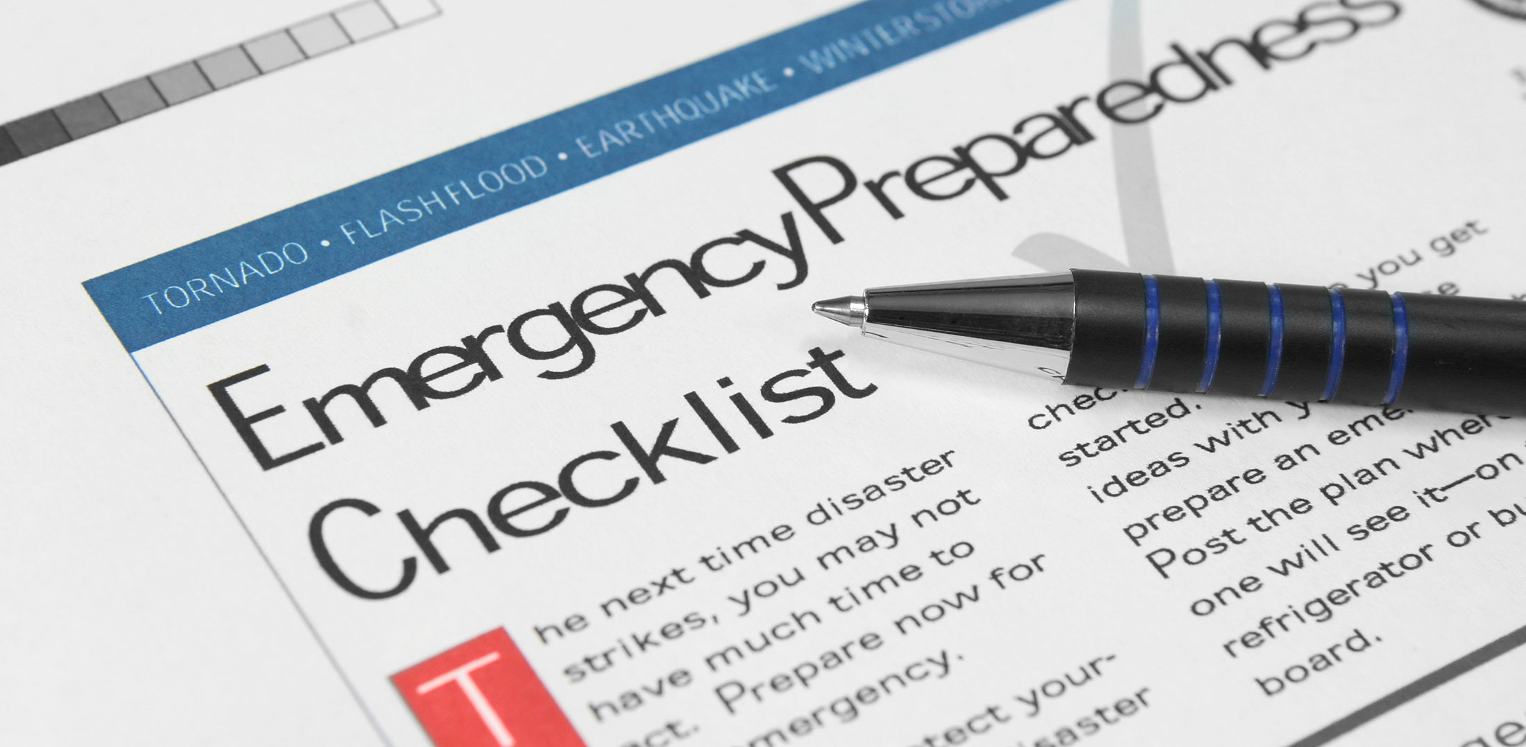 Emergency disaster plan checklist from InterCoastal Public Adjusters